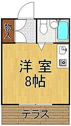 プチグレイス前田[1階]の間取り