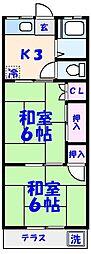 第1丸太コーポ[102号室]の間取り