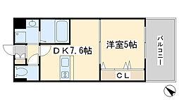 福岡県北九州市小倉北区高尾1丁目の賃貸マンションの間取り