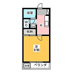 カーサひじり峯田[2階]の間取り