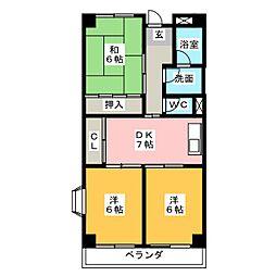 アーバンハイツ[2階]の間取り