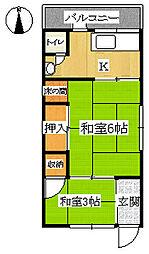 松寿荘[101号室]の間取り