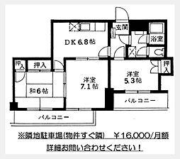 調布セントラルアパート[7階]の間取り
