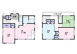 [一戸建] 千葉県松戸市五香4丁目 の賃貸【/】の間取り
