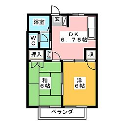 ラフォーレ青江[1階]の間取り