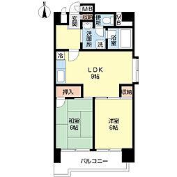 富士プラザ2中央[s0707号室]の間取り