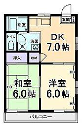B flat[2階]の間取り