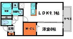 ソレイユ 1階1LDKの間取り