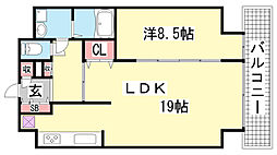 DAIWAマンション[8階]の間取り
