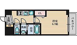 阪急宝塚本線 三国駅 徒歩11分の賃貸マンション 10階1Kの間取り