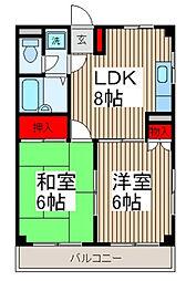 Fハウス[2階]の間取り