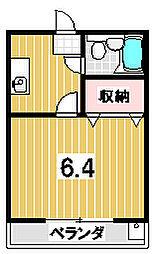 森マンション6[402号室]の間取り