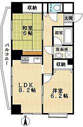 ガーデンヒルズ吉田[7階]の間取り
