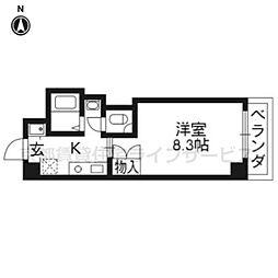 アンシャーレ西ノ京[107号室]の間取り