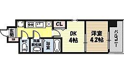 ビガーポリス346京橋II 9階1DKの間取り