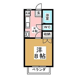 メゾン61[1階]の間取り