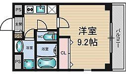 プライムコート新大阪[4階]の間取り