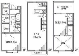 [テラスハウス] 東京都世田谷区成城4丁目 の賃貸【/】の間取り