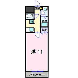 岡山県総社市駅前の賃貸マンションの間取り