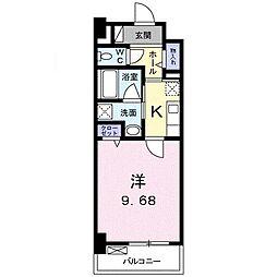 高松琴平電気鉄道琴平線 三条駅 徒歩11分の賃貸マンション 2階1Kの間取り