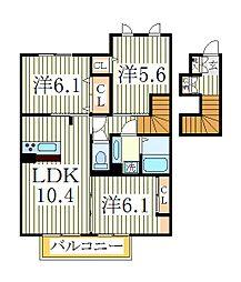 グレイス2[2階]の間取り