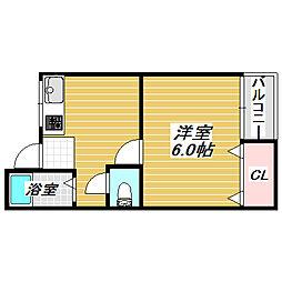 千扇マンション[2階]の間取り