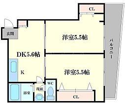 石原マンション[2階]の間取り