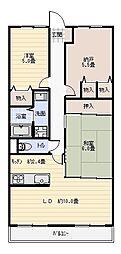 アディーレ八尾[5階]の間取り