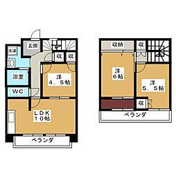 二条麩屋町ビューハイツ[6階]の間取り