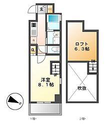 Gstyle栄東(ジースタイル)[3階]の間取り
