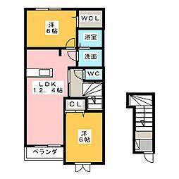 メゾン ド 松[2階]の間取り
