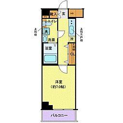 東京臨海高速鉄道りんかい線 東雲駅 徒歩7分の賃貸マンション 4階1Kの間取り