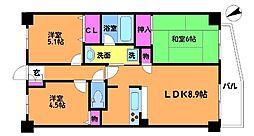 ライオンズマンション調布小島町[2階]の間取り