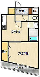 兵庫県神戸市兵庫区羽坂通4丁目の賃貸マンションの間取り