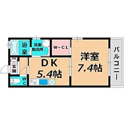 Osaka Metro谷町線 太子橋今市駅 徒歩5分の賃貸アパート 1階1DKの間取り