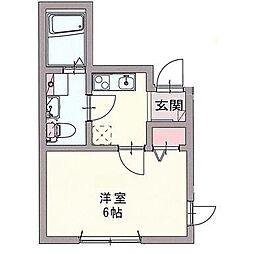 神奈川県横浜市磯子区中浜町の賃貸アパートの間取り