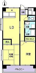 サンシャイン田中[5階]の間取り