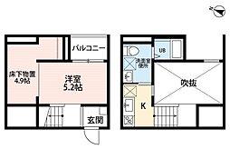 Oence 港東通(オーエンスコウトウドオリ)[1階]の間取り