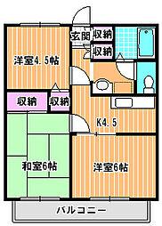 キャニオンハヤシ[2階]の間取り