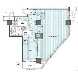 フェニックス西参道タワー 23階3LDKの間取り