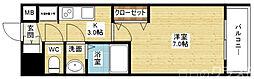 Luxe東三国α 4階1Kの間取り