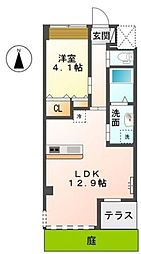JR東海道本線 茅ヶ崎駅 バス13分 室田1丁目下車 徒歩1分の賃貸マンション 1階1LDKの間取り