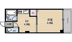 大阪府大阪市福島区鷺洲3丁目の賃貸マンションの間取り