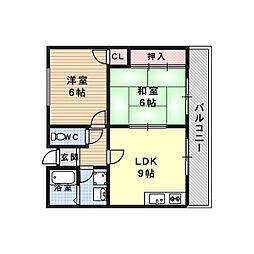 エステート樋口[1階]の間取り
