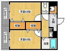「イースター西栄」[2階]の間取り