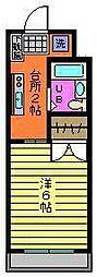 中村マンション[203号室]の間取り