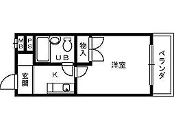 大阪府堺市堺区甲斐町東6丁の賃貸マンションの間取り