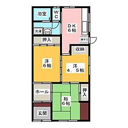 [一戸建] 愛知県稲沢市島町本郷 の賃貸【/】の間取り