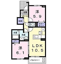 ル・シアン サキタ[1階]の間取り