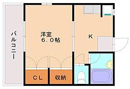 ハイツ栄[1階]の間取り